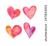 beautiful watercolor heart | Shutterstock . vector #247833001