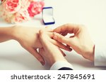 picture of man putting  wedding ... | Shutterstock . vector #247845691