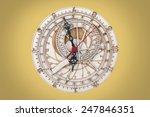 antique wooden clock close up | Shutterstock . vector #247846351