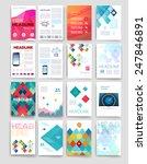 templates. set of flyer ... | Shutterstock .eps vector #247846891