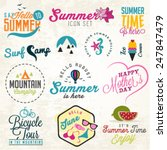 cute summer illustrations and... | Shutterstock .eps vector #247847479