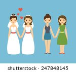 cute cartoon gay couple in... | Shutterstock .eps vector #247848145