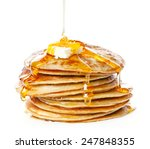 Stack Of Small Pancakes In...