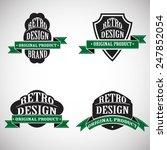 vector vintage insignias . ... | Shutterstock .eps vector #247852054