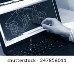 designer working on a cad... | Shutterstock . vector #247856011
