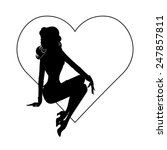 vector silhouette of sexy pin...   Shutterstock .eps vector #247857811