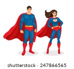 illustration superman and... | Shutterstock .eps vector #247866565