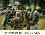 Team Of Soldiers Engaged In Th...