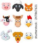 cartoon farm animal set | Shutterstock .eps vector #247867621