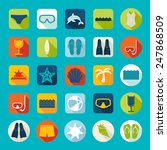 set of summer tourism icons | Shutterstock . vector #247868509
