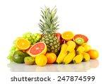 assortment of exotic fruits... | Shutterstock . vector #247874599