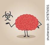 brain character  biological... | Shutterstock .eps vector #247876501