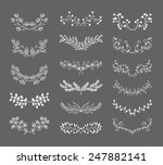 set of symmetrical floral... | Shutterstock .eps vector #247882141