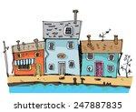 Cute Seaside House   Cartoon