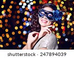 beautiful girl with masquerade... | Shutterstock . vector #247894039