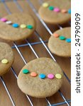 Colorful Easter Cookies On A...