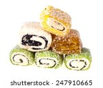 Постер, плакат: Oriental sweets such as
