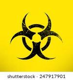 biohazard warning symbol on... | Shutterstock .eps vector #247917901