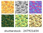 collection of seamless patterns ... | Shutterstock .eps vector #247921654