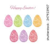 set of easter eggs. vector | Shutterstock .eps vector #247923907