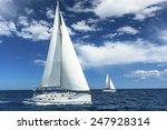 Sailboats Participate In...