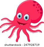 happy octopus cartoon