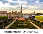 Cityscape Of Brussels In A...