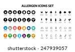 allergen icons | Shutterstock .eps vector #247939057