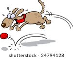 high strung brown dog with his... | Shutterstock .eps vector #24794128