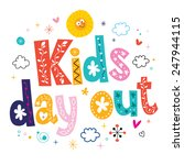kids day out | Shutterstock .eps vector #247944115