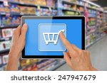 online supermarket shopping... | Shutterstock . vector #247947679