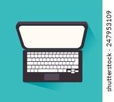 technology design over blue... | Shutterstock .eps vector #247953109