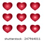 vector set of buttons for the... | Shutterstock .eps vector #247964011