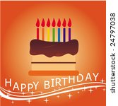 birthday cake   occasion  party ... | Shutterstock .eps vector #24797038