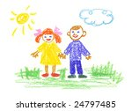 girl and boy | Shutterstock . vector #24797485