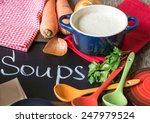 different kinds of soups  ...