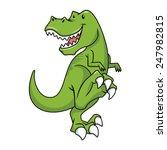 tyrannosaurus rex character ... | Shutterstock .eps vector #247982815