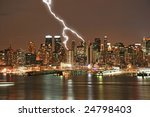 Manhattan Midtown Skyline At...
