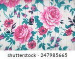 rose vintage from fabric on...   Shutterstock . vector #247985665