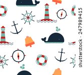 marine pattern. includes an... | Shutterstock .eps vector #247989415