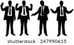 set of businessmen body... | Shutterstock .eps vector #247990615