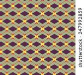 green geometric seamless pattern | Shutterstock .eps vector #247992859