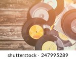 top view of stack of records...   Shutterstock . vector #247995289