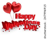 happy valentines day card | Shutterstock .eps vector #247996915