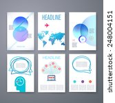 templates. set of web  mail ... | Shutterstock .eps vector #248004151