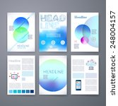 templates. set of web  mail ... | Shutterstock .eps vector #248004157