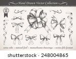 hand drawn ribbons and bows set ... | Shutterstock .eps vector #248004865