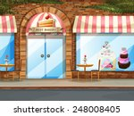 illustration of a bakery shop... | Shutterstock .eps vector #248008405