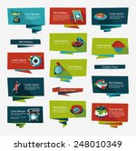 coffee flat banner background... | Shutterstock .eps vector #248010349