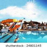 colorful aquapark constructions ...   Shutterstock . vector #24801145